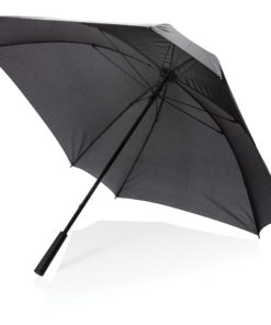 "27"" manual XL logo space square umbrella black P850.351"