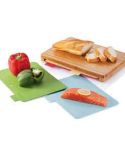 Cutting board with 4pcs hygienic boards brown P261.219