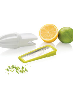 2-in-1 citrus zester and grater white