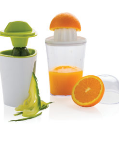 2-in-1 spiral slicer and juicer white