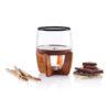 Cocoa chocolate fondue set black