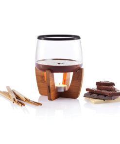 Cocoa chocolate fondue set black