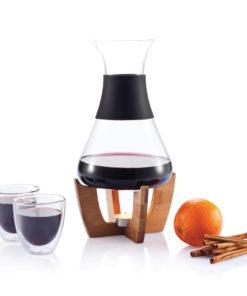 Glu mulled wine set with glasses black