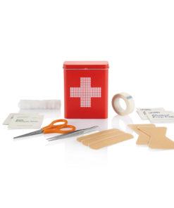 First aid tin box red P265.034