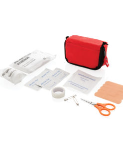 First aid set in pouch red P265.310