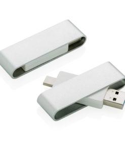 Pivot USB with type C grey P300.122