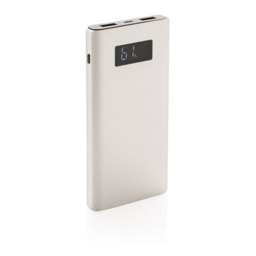 10.000 mAh powerbank with quick charge grey P324.944
