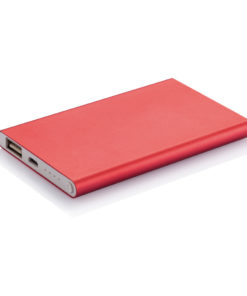 4.000 mAh slim powerbank red