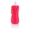Foldable water bottle red