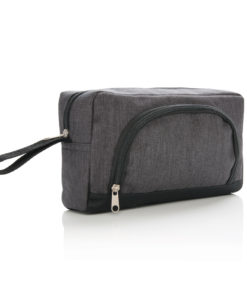 Classic two tone toiletry bag anthracite