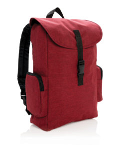"15"" Laptop backpack with buckle red"