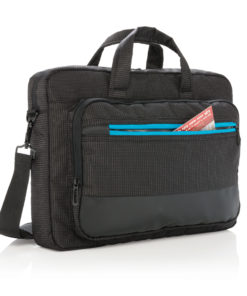 "Elite 15.6"" USB rechargeable laptop bag black"