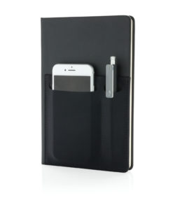 A5 Deluxe notebook with smart pockets black P773.011
