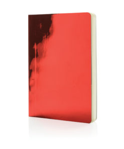 A5 Deluxe metallic notebook red P773.054