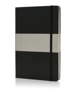 A5 squared hardcover notebook black P773.201