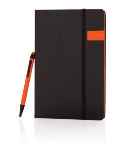 Deluxe 8GB USB notebook with stylus pen orange
