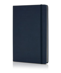 Deluxe hardcover PU A5 notebook navy P773.425