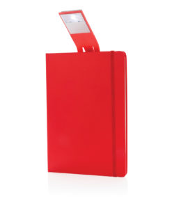 A5 Notebook & LED bookmark red P773.454