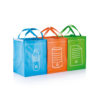 3pcs recycle waste bags green P795.007