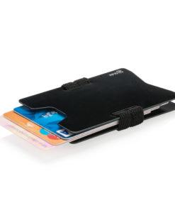 Aluminium RFID anti-skimming minimalist wallet black
