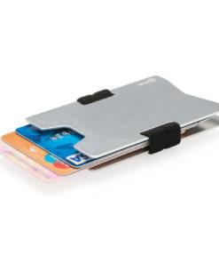 Aluminium RFID anti-skimming minimalist wallet silver