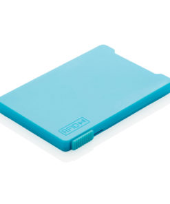 Multiple cardholder with RFID anti-skimming blue P820.475