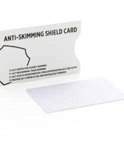 Anti-skimming RFID shield card white P820.523