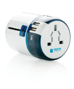 Travel Blue world travel adapter USB white P820.843