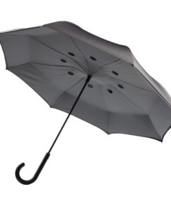 "Auto Close Reversible umbrella 23"" grey P850.031"