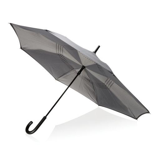 """23"""" manual reversible umbrella grey P850.092"""