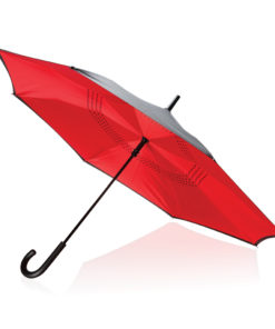 "23"" manual reversible umbrella red P850.094"