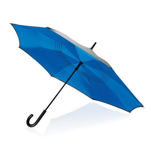 "23"" manual reversible umbrella blue P850.095"