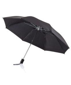 """Deluxe 20"""" foldable umbrella black P850.261"""