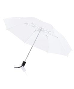 """Deluxe 20"""" foldable umbrella white P850.263"""