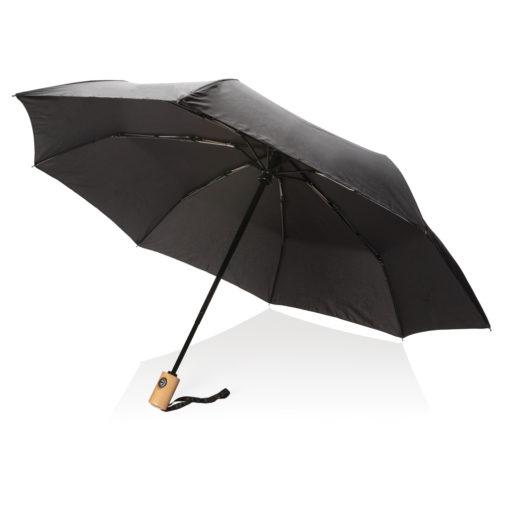 "21"" auto open/close RPET umbrella black P850.391"