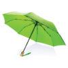 "21"" auto open/close RPET umbrella green P850.397"