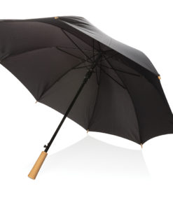 """23"""" auto open storm proof RPET umbrella black P850.401"""