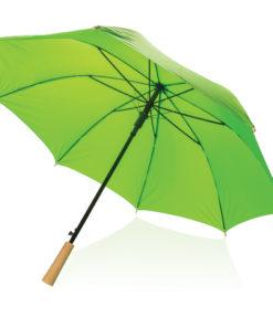 """23"""" auto open storm proof RPET umbrella green P850.407"""