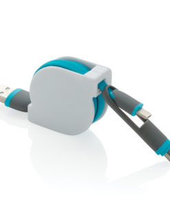 3-in-1 retractable cable blue P302.225
