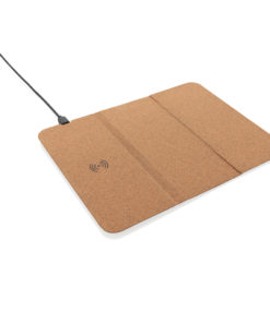 5W wireless charging cork mousepad and stand brown P308.089