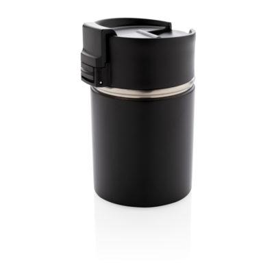 Bogota compact vacuum mug with ceramic coating black P432.241