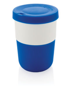 PLA cup coffee to go 380ml blue P432.835