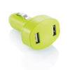 Double USB car charger green P302.067