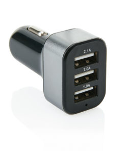 3.1A car charger with 3 USB black