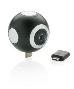 Dual lens 360 camera black P330.951
