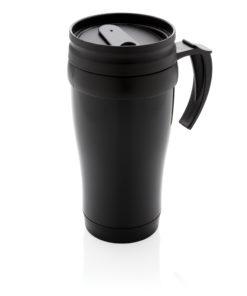 Stainless steel mug black P432.131